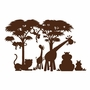 Elephants on the Wall Silhouettes Lg. Silhouette P.1 Paint by Number Wall Murals