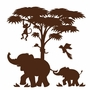Elephants on the Wall Silhouettes Lg. Silhouette P.2 Paint by Number Wall Murals