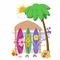 Elephants on the Wall Sun, Surf & Beach Trio of Surfboards Paint by Number Wall Murals