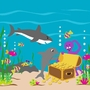 Elephants on the Wall Underwater Antics Sea Treasures Paint by Number Wall Murals