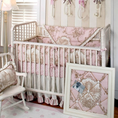 New Arrivals English Rose 3 Piece Baby Crib Bedding Set