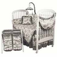 Etoile Black Crib Bedding Collection by Hoohobbers