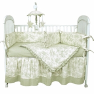 Etoile Green Crib Bedding Collection by Hoohobbers