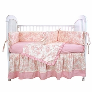 Etoile Pink Crib Bedding Collection by Hoohobbers