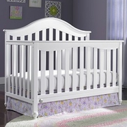 Fisher Price Malibu 5 in 1 Convertible Crib in Snow White