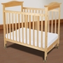 Foundations Biltmore Compact Fixed Side Clearview Crib in Natural