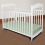 Foundations Biltmore Full Size Fixed Side Clearview Crib in White