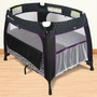Foundations Boutique Portable Play Yard Damask in Black & White