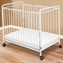 Foundations Compact Steel Non-Folding Crib with Slatted Ends in Clearview