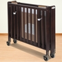 Foundations HideAway Folding Fixed Side Full Size Crib in Antique Cherry