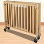 Foundations HideAway Folding Fixed Side Full Size Crib in Natural