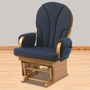 Foundations Lullaby Adult Glider Rocker Natural/Blue in Natural/Blue
