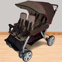 Foundations Quad LX 4-Passenger Stroller Earthscape in Taupe & Red