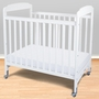 Foundations Serenity Compact Fixed Side Clearview Crib in White