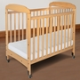 Foundations Serenity Compact Fixed Side Mirror End Crib in Natural