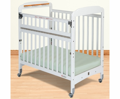 Foundations Serenity SafeReach Compact Clearview Crib in White