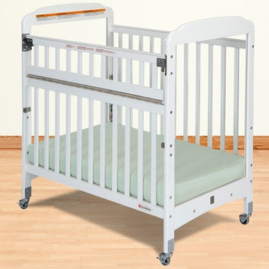 Foundations Serenity SafeReach Compact Clearview Crib in White - Click to enlarge