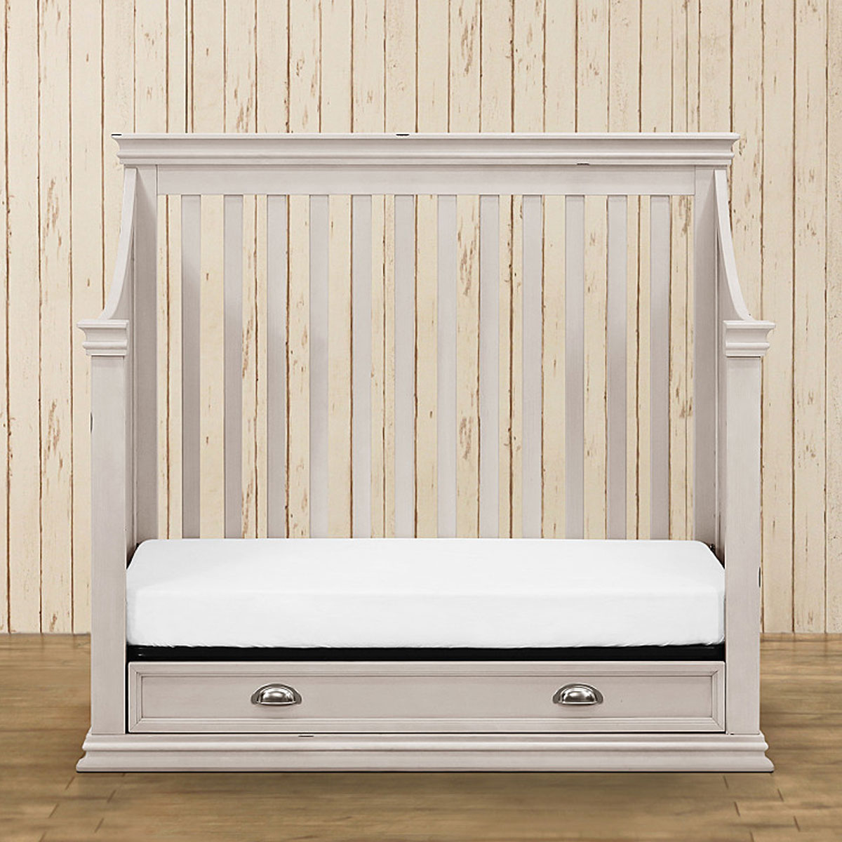 Franklin And Ben Mason 4 In 1 Convertible Crib With Toddler Bed Conversion  Kit In Distressed White FREE SHIPPING