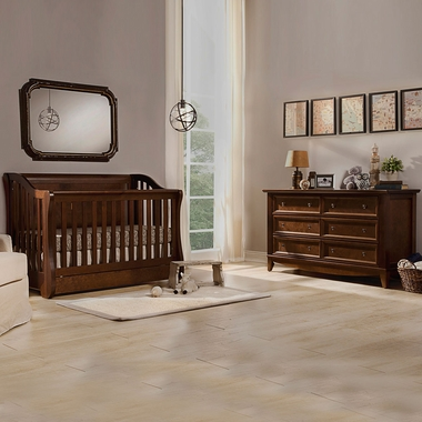 Franklin Ben Mayfair Nursery Bundle Crib Arlington Double Wide Dresser In Rustic
