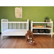 Franklin & Ben 2 Piece Nursery Set - Liberty 3-in-1 Convertible Crib & Changing Table in White