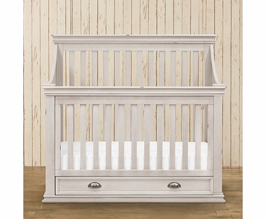 Franklin & Ben Mason 4-in-1 Convertible Crib with Toddler Bed Conversion Kit in Distressed White