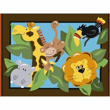"Fun Rugs In the Jungle Extra High Pile Hand-Carved Rug 39"" x 58"""