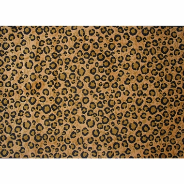 Fun Rugs Leopard Skin Extra High Pile Hand-Carved Rug 5' 3