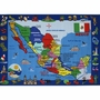 """Fun Rugs Map of Mexico Rug 5' 3"""" x 7' 6"""""""