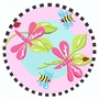 Fun Rugs Pink Dragonfly Extra High Pile Hand-Carved Round Rug 39""