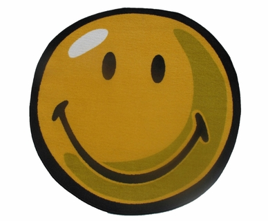 Fun Rugs Smiley Yellow Round Rug 39""