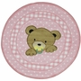 Fun Rugs Teddy Center Pink Extra High Pile Hand-Carved Round Rug 39""