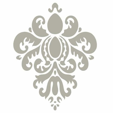 Glenna Jean Contessa Gray Damask Wall Decal