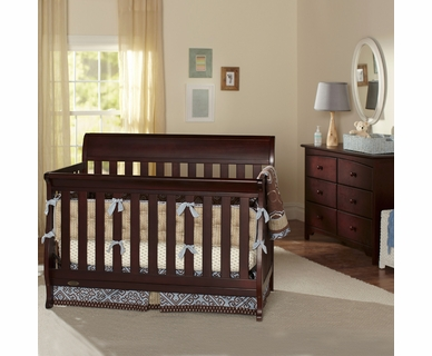 Graco Cribs 2 Piece Nursery Set - Hartford Convertible Crib and Combo Dresser in Espresso