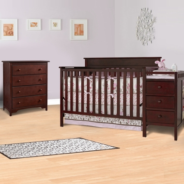 Merveilleux Graco Cribs 2 Piece Nursery Set   Lauren Convertible Crib And Changer Combo  And 4 Drawer