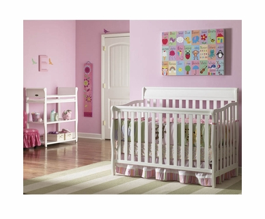 Graco Cribs 2 Piece Nursery Set - Stanton Convertible Crib and Sarah Changing Table in White