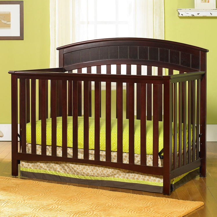 Graco Cribs 3 Piece Nursery Set Charleston Convertible Crib 6 Drawer Double Dresser And 4 In Cherry Free Shipping