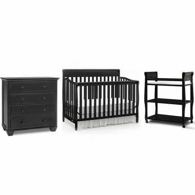 Graco Cribs 3 Piece Nursery Set Stanton Convertible Crib