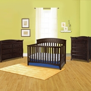 Sealy Naturals Crib Mattress Pad ... Convertible Crib and Avalon 5 Drawer Dresser in Espresso FREE SHIPPING