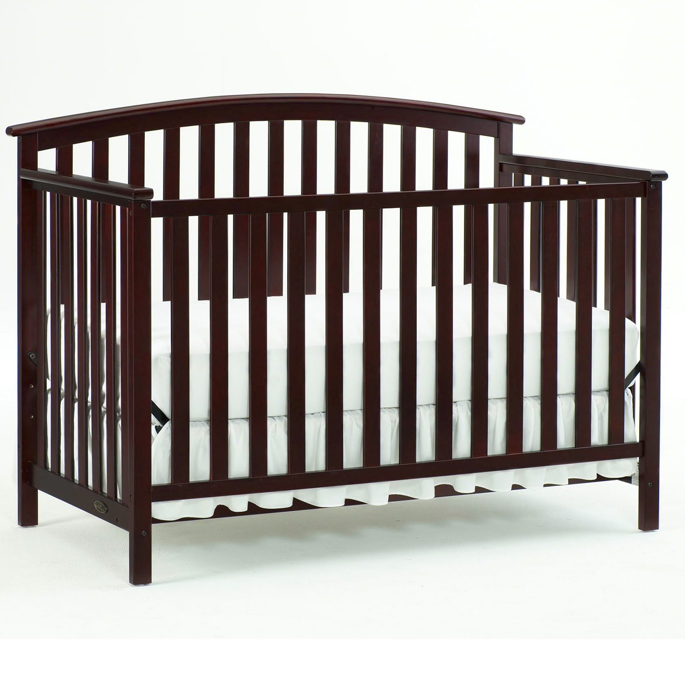 Graco Cribs Freeport 4 In 1 Convertible Crib With Mattress In Cherry FREE  SHIPPING