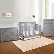 Graco Cribs Hayden 3 Piece Nursery Set - 4-in-1 Convertible Crib, Auburn 5 Drawer Dresser and 6 Drawer Dresser in Pebble Gray