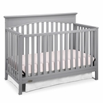 Graco Cribs Hayden 4-in-1 Convertible Crib in Pebble Gray