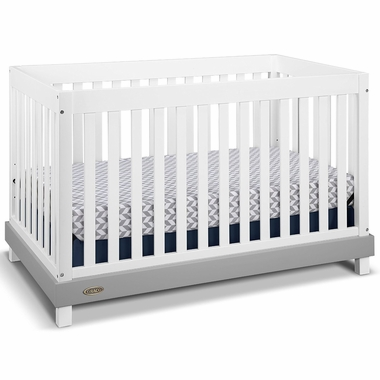 Graco Cribs Maddox Convertible Crib in White/Gray - Click to enlarge