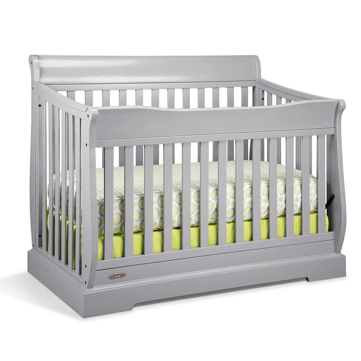 Baby cribs with matching dresser - Graco Cribs Maple Ridge 4 In 1 Convertible Crib In Pebble Gray