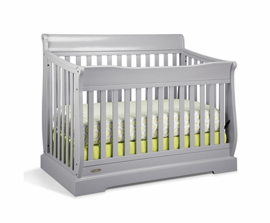 Graco Cribs Maple Ridge 4 in 1 Convertible Crib in Pebble Gray