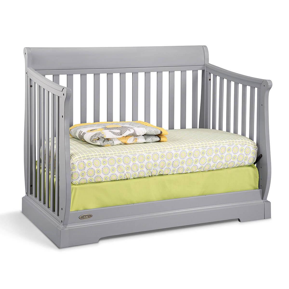 Crib toys for sale philippines - Graco Cribs Maple Ridge 4 In 1 Convertible Crib In Pebble Gray Free Shipping