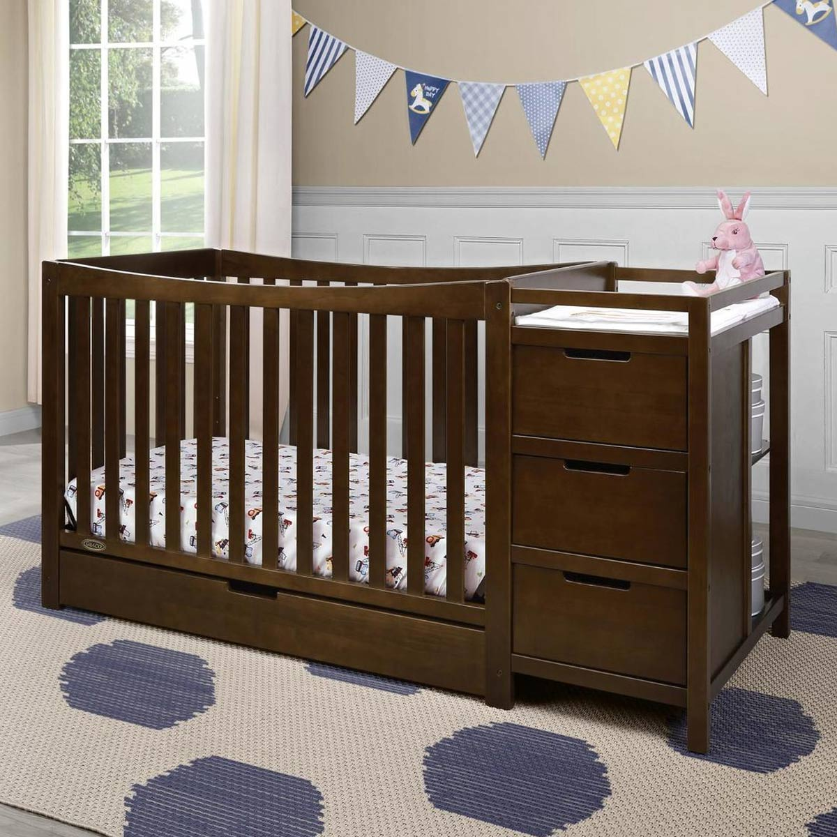 Graco Remi 4 In 1 Convertible Crib And Changer Espresso Free Shipping
