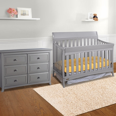 Graco Cribs Rory 2 Piece Nursery Set 4 In 1 Convertible