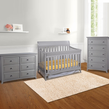 Graco Cribs Rory 3 Piece Nursery Set 4 In 1 Convertible