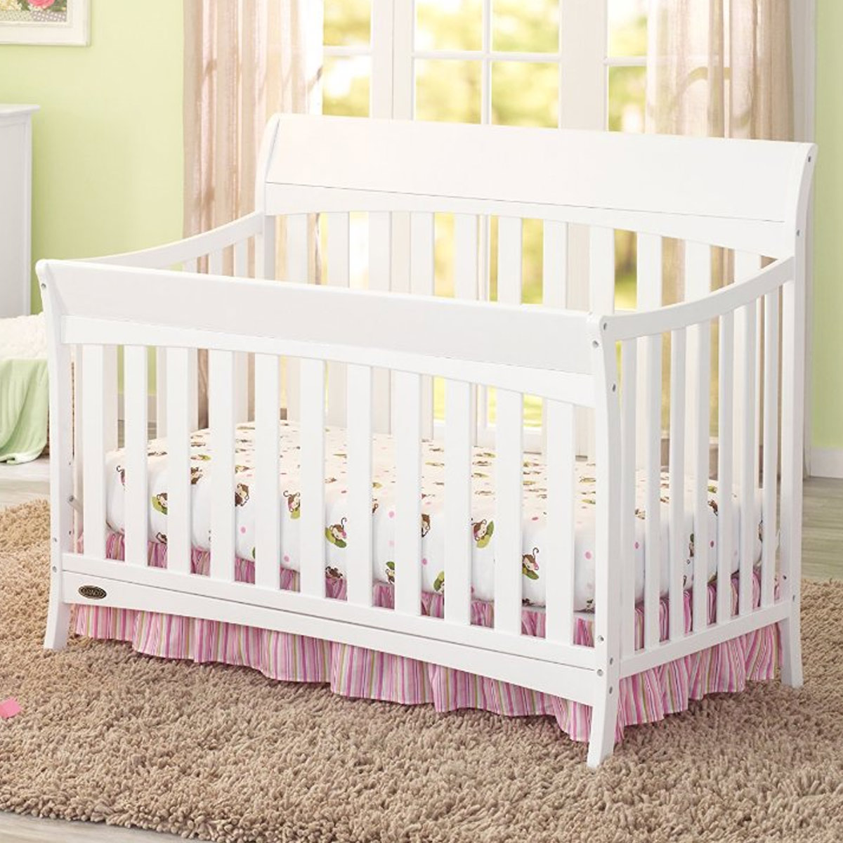 - Graco Rory 4-in-1 Convertible Crib In White FREE SHIPPING