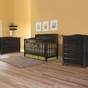 Graco Cribs Stanton 3 Piece Nursery Set - 4-in-1 Convertible Crib, Avalon 5 Drawer and 6 Drawer Dresser in Espresso